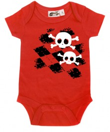 argyle-skull-red-onesie