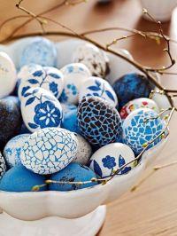 blue mosaic eggs