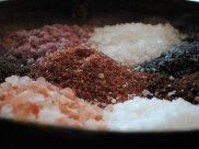 colorful sea salt