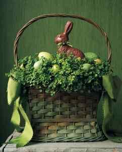 moss bunny basket
