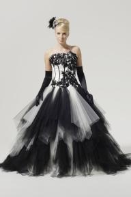 black-and-white-wedding-dresses