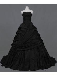 black-ball-gown-gothic-wedding-dress