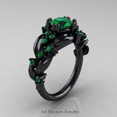 black gold emerald