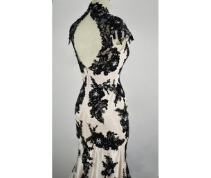 black_white_wedding_gown_classic_lace_elegant_summer_banquet_dress_dresses_2