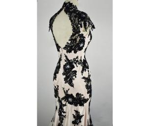 black_white_wedding_gown_classic_lace_elegant_summer_banquet_dress_dresses_2