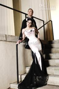 cheap20black20and20white20gothic20wedding20dress20mermaid20beaded20satin20floor-length20lace20corset20court20train