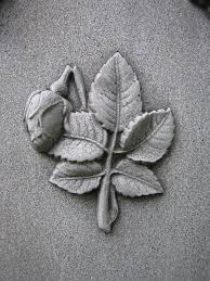 grave broken rosebud