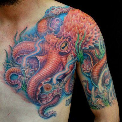 tentacle tattoos spooky and sweet. Black Bedroom Furniture Sets. Home Design Ideas