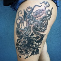 octopus-tattoo-flower