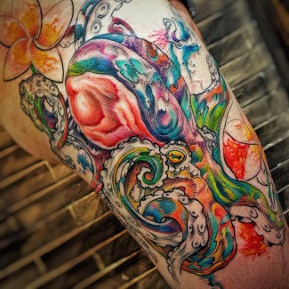 octopus-tattoo-flowers