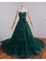 romantic-green-lace-gothic-wedding-dress