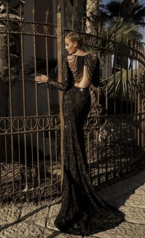 vintage-black-wedding-gown