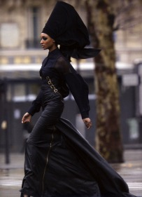 afro goth outfit