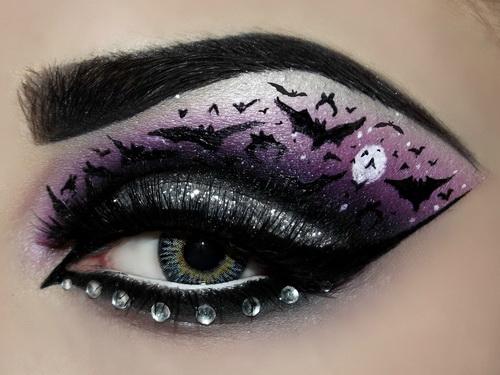 Makeup eye Gothic designs photo